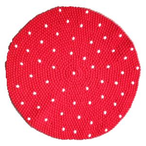 Vloerkleed rood